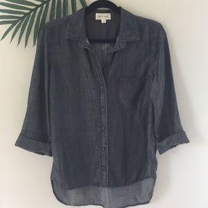 Cloth and Stone black tencel shirt
